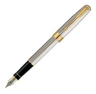 Parker Sonnet Premier Sterling Silver Fountain pen (B Nib)