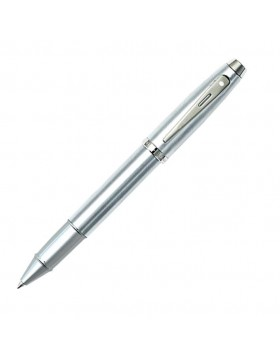 Sheaffer 100 Brushed Chrome, Nickel trim Rollerball Pen