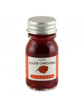 J. Herbin 10ml Ink Bottle Rouge Caroubier (Carob Seed Red)