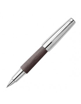 Faber Castell e-motion Wood Chrome Black 148225 Rollerball Pen