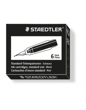 Staedtler Ink Cartridge Black (Short)