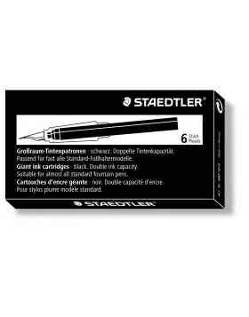 Staedtler Ink Cartridge Black (Long)