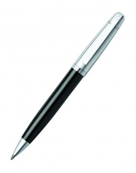 Sheaffer 500 Glossy Black Barrel, Bright Chrome Cap, Chrome Plate Trim 9331 Ballpoint