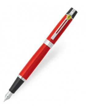 Sheaffer Ferrari 300 Rossa Corsa Featuring Chrome Plated Trim Fountain Pen