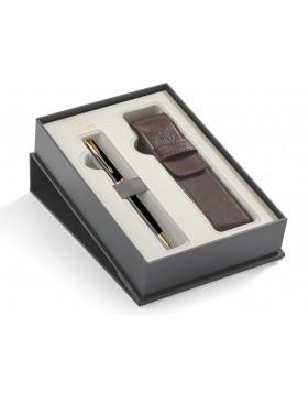 Parker Sonnet Transformation Black Lacquer GT Ballpoint Pen & Pen Pouch Set