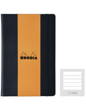 RHODIA Webnotebook Hard Cover 90gsm Black A5 (Lined)