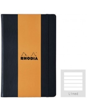 RHODIA Webnotebook Hard Cover Black A4 (Lined)