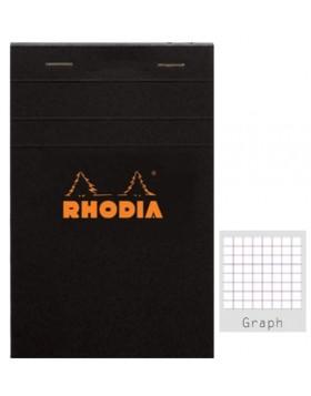 RHODIA Classic Black Notepad A5 (Graph)