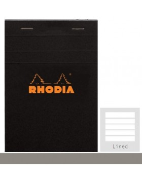 RHODIA Classic Black Notepad A6 (Lined)