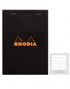 RHODIA Classic Black Notepad A5 (Lined)