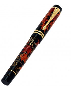 Parker Duofold International Maple Tree Makie Fountain Pen (M Nib)