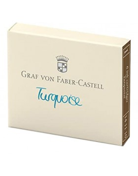Faber Castell 6 Ink cartridges Turquoise