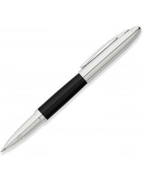 Franklin Covey Lexington Midnight Black Lacquer/Chrome Rollerball