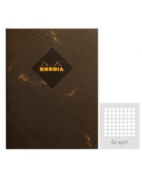 RHODIA Heritage Sewn Chevrons A5 Notebook (Graph)