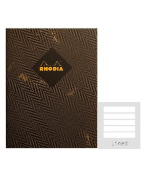 RHODIA Heritage Sewn Chevrons A5 Notebook (Lined)