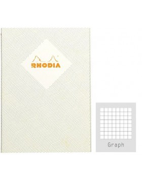 RHODIA Heritage Sewn Chevrons Ivory A5 Notebook (Graph)