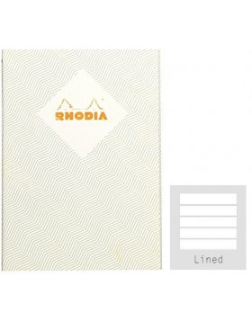 RHODIA Heritage Sewn Chevrons Ivory A5 Notebook (Lined)