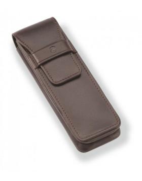 Staedtler Initium Brown Pen Pouch 9PLE2ET1-7 - 2 Pen Case
