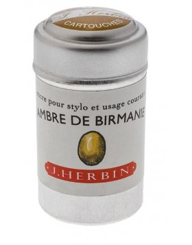 J. Herbin Ink Cartridges Ambre de Birmanie (Amber of Burma)