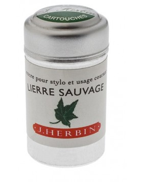 J. Herbin Ink Cartridges Lierre Sauvage (Wild Ivy Green)