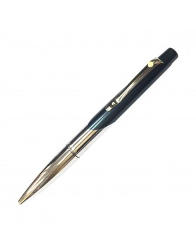 Sheaffer Intrigue 618 Petrol Metallic Blue Chrome Plated Ballpoint Pen