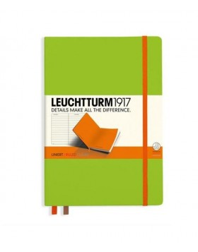 Leuchtturm1917 Notebook A5 Lime-Orange Line
