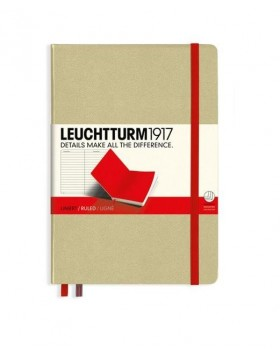 Leuchtturm1917 Notebook A5 Sand - Red Line