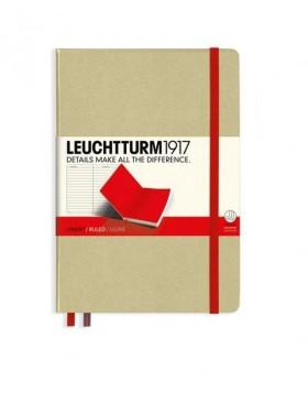 Leuchtturm1917 Notebook A5 Sand - Red Line