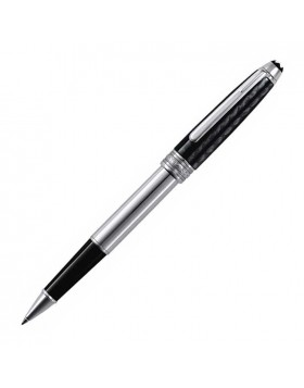 Montblanc Meisterstuck Solitaire Carbon & Steel 5833 Rollerball Pen