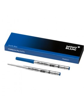 Montblanc 2 Ballpoint Pen Refills (Medium) 116213 Pacific Blue
