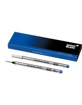 Montblanc 2 Fineliner Refills (Medium) 110150 Pacific Blue