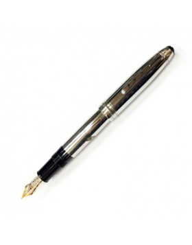 Montblanc  Meisterstück Solitaire Stainless Steel 23146 Fountain Pen (B nib)