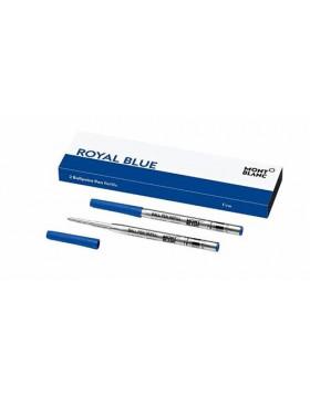 Montblanc 2 Ballpoint Pen Refills (Medium) 128214 Royal Blue