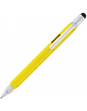Monteverde One Touch Tool Yellow Ballpoint Pen with Stylus