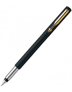 Parker Vector Matte Black GT Fountain Pen (F Nib)