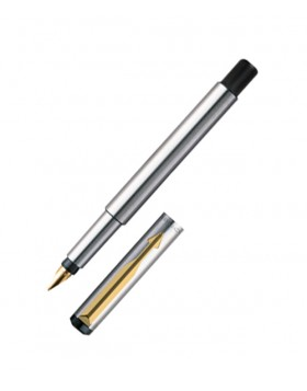 Parker Vector Stainless Steel GT Fountain Pen (F Nib)