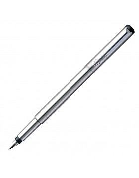 Parker Vector Stainless Steel CT Fountain Pen (M Nib)