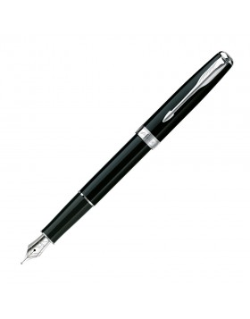 Parker Sonnet II Black Lacquer Chrome Trim Fountain Pen