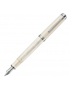Pelikan Souveran M605 White Transparent Fountain Pen - Medium Nib