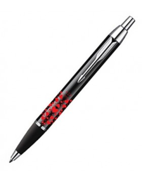 Parker IM Black CT Red Hearts Ballpoint