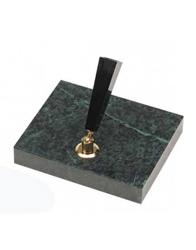 Platinum Desk Pen Stand Green Marble Single DPD-3000D#40