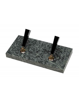 Platinum Desk Pen Stand Green Marble Double DPD-5000D#40