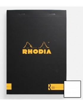 """RHODIA Classic """"R"""" Black Notepad A5 (Blank)"""