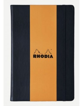 RHODIA Webnotebook Hard Cover 90gsm Black A5 (Blank)