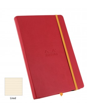 RHODIA Boutique Rhodiarama Hard Cover Notebook Poppy A5 (Lined)