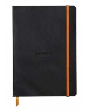RHODIA Boutique Rhodiarama Soft Black  A5 (Lined)