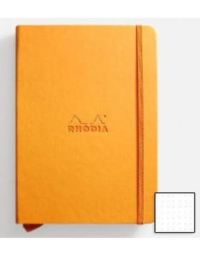 RHODIA Webnotebook Hard Cover 90gsm Orange A5 (Dot)