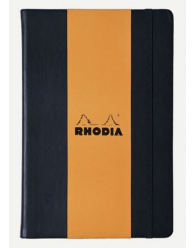 RHODIA Webnotebook Hard Cover 90gsm Black A5 (Dot)
