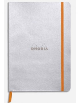 RHODIA Boutique Rhodiarama Soft Cover Silver A5 (Dot)