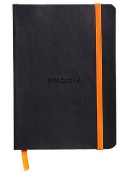 RHODIA Boutique Rhodiarama Soft Cover Black A6 (Dot)